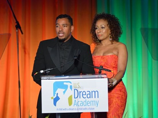 Actors Laz Alonso and Tamara Tunie serve as hosts during the 15th Annual Power of a Dream Gala on Tuesday, May 3, 2016 at the Renaissance Hotel in Northwest. /Photo by Patricia Little @5feet2