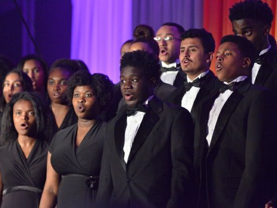 Students from the Takoma Academy Chorale perform a musical selection during the 15th Annual Power of a Dream Gala on Tuesday, May 3, 2016 at the Renaissance Hotel in Northwest. /Photo by Patricia Little @5feet2
