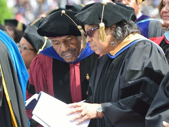 Faculty members attend the 148th Commencement Convocation at Howard University on Saturday, May 7, 2016 in Northwest. /Photo by Patricia Little