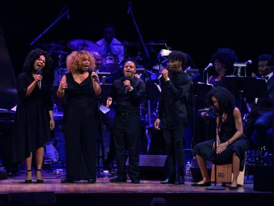 """The Mellow Tones from the Duke Ellington School of the Arts in Northwest serves as the opening act during the Kennedy Center Spring Gala tribute to Marvin Gaye,"""" on Sunday, June 5th in Northwest. /Photo by Patricia Little"""