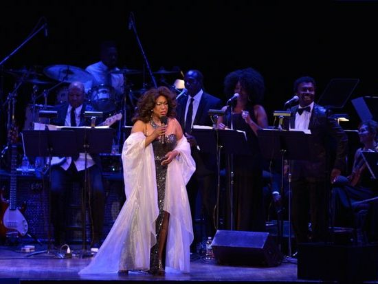"""Singer Mary Wilson performs a song at the Kennedy Center Spring Gala tribute to Marvin Gaye,"""" on Sunday, June 5th in Northwest. /Photo by Patricia Little"""