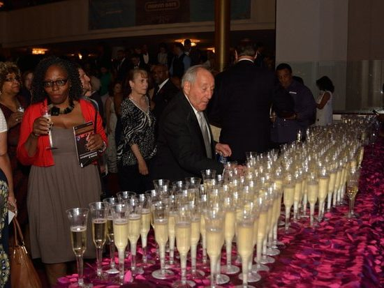 Patrons enjoy a glass of champagne after the Kennedy Center Spring Gala tribute to Marvin Gaye on Sunday, June 5th in Northwest. /Photo by Patricia Little