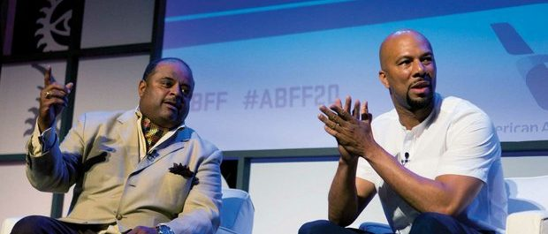 """ABFF celebrity ambassador Common addresses questions from the audience during a """"Conversation with Common"""" led by TV One news host Roland Martin at the 20th Annual American Black Film Festival on Thursday, June 16 in Miami, FL. /Photo by Patricia Little @5feet2"""