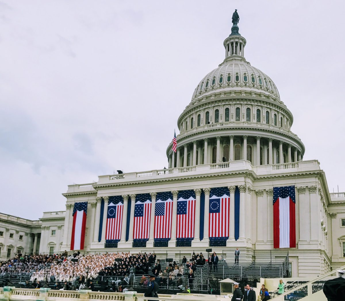 The Capitol is decorated for the inauguration ceremonies for the 45th president of the United States. /Photo by Shevry Lassiter