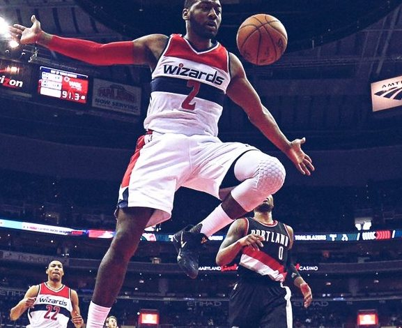 John Wall and the Washington Wizards cruised by the Portland Trail Blazers, 120-101, at Verizon Center in D.C. on Jan. 16 for their 12th straight home victory.