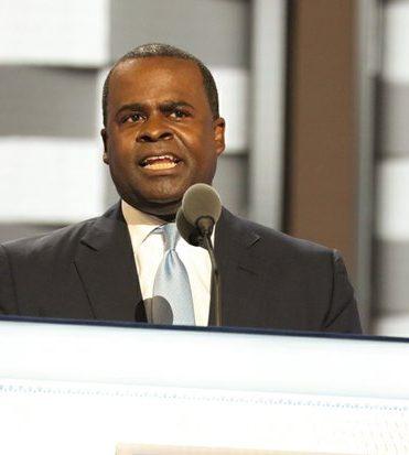 Atlanta Mayor Kasim Reed speaks during the DNCC in Philadelphia on Wednesday, July 27.
