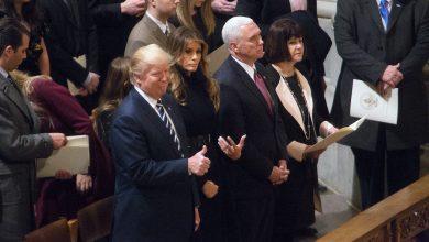 Photo of Trump, Pence Attend National Prayer Service