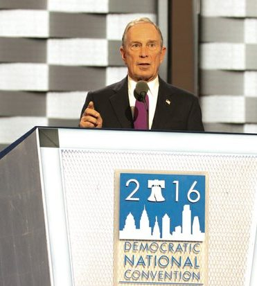 Michael Bloomberg speaks during the DNCC in Philadelphia on Wednesday, July 27.