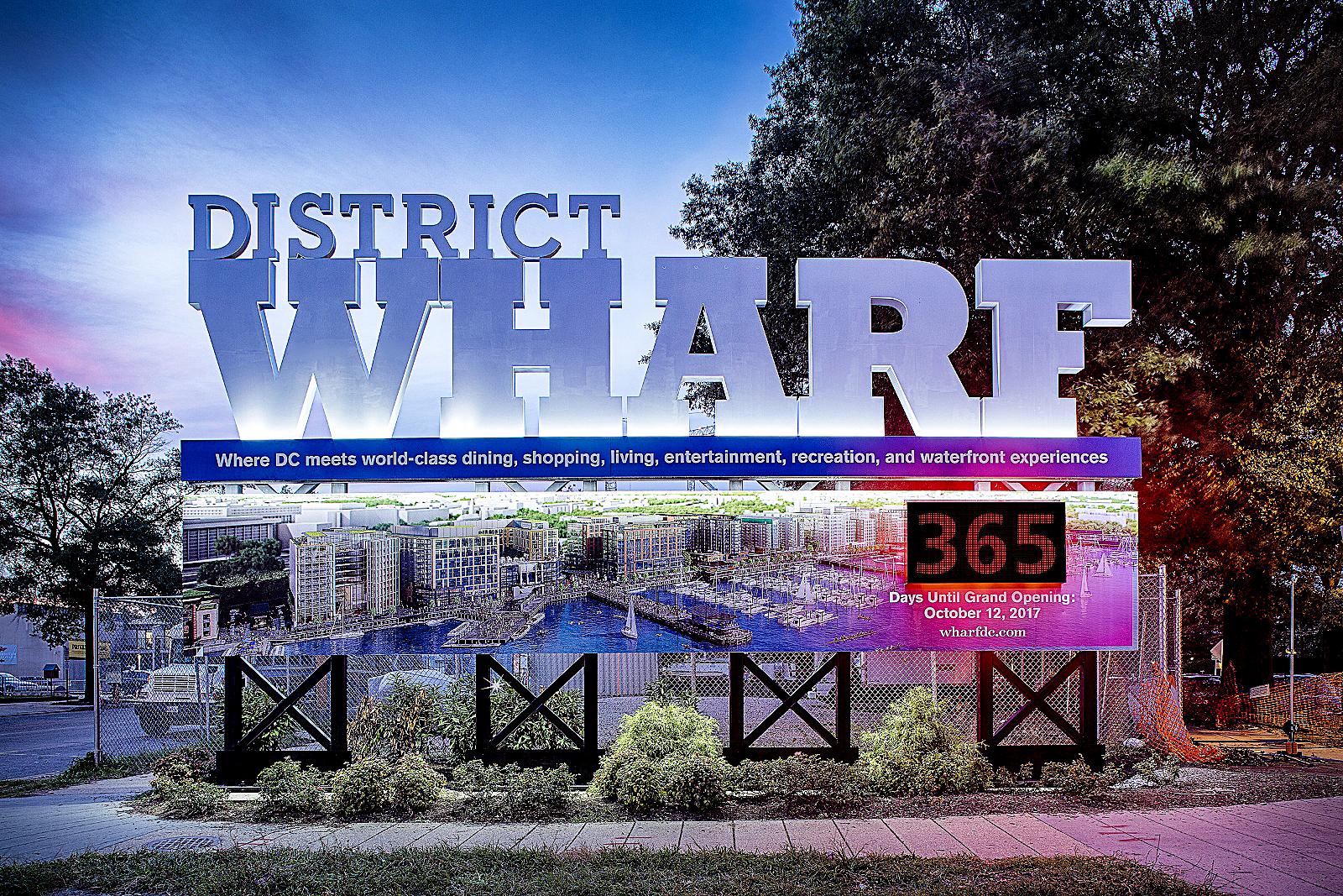 The Wharf countdown clock has been unveiled. /Photo courtesy of dcwharf.com.