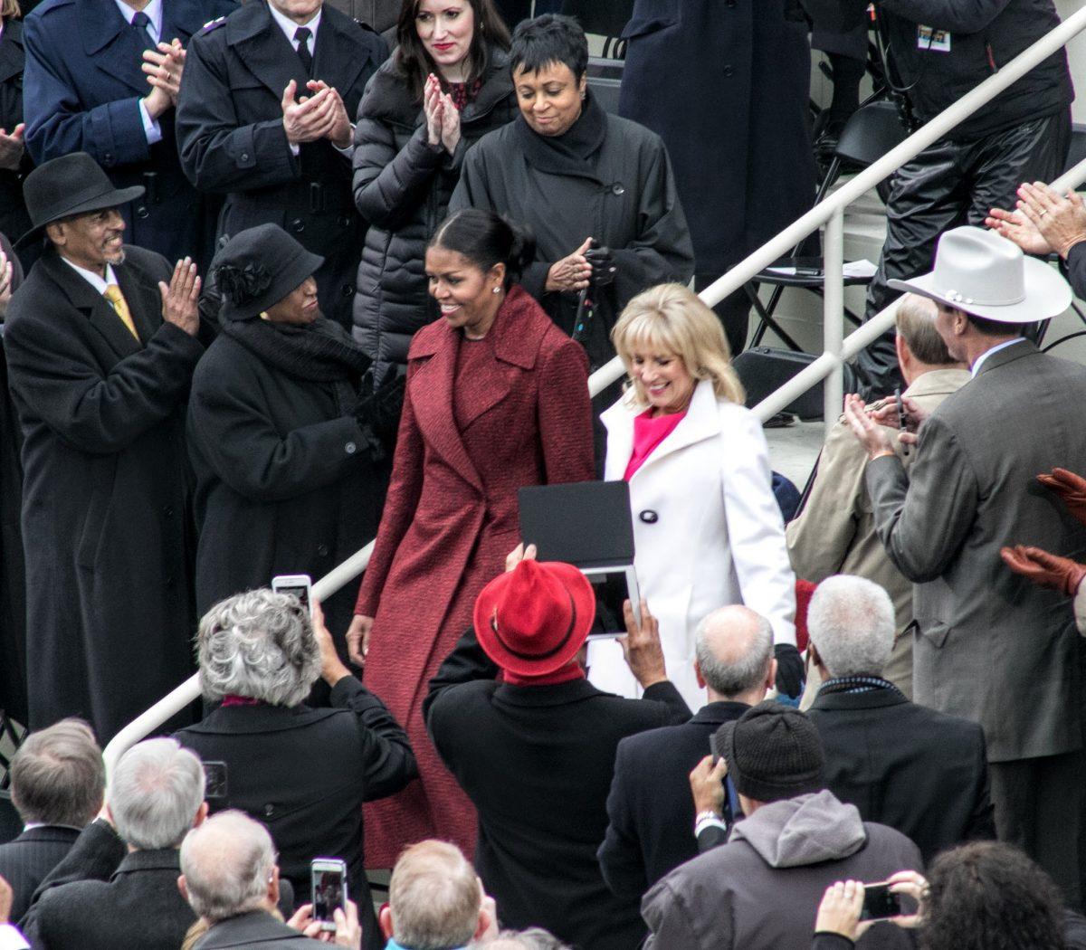 First Lady Michelle Obama and Dr. Jill Bident arrive at the Inauguration of the 45th President. /Photo by Shevry Lassiter