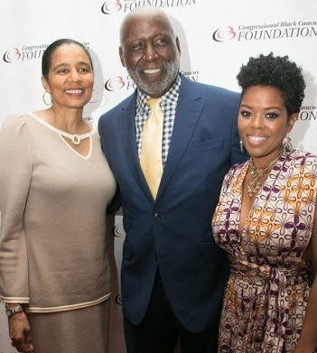 CBCF Foundation Vice President & CEO A. Shuanise Washington on the red carpet with Richard Roundtree and Malinda Williams during the CBCF 20th annual Celebration of Leadership in the Fine Arts at Sidney Harman Hall in Northwest on Wed., September 14.