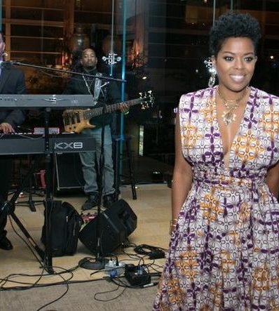 Malinda Williams served as the emcee during the CBCF 20th annual Celebration of Leadership in the Fine Arts at Sidney Harman Hall in Northwest on Wed., September 14