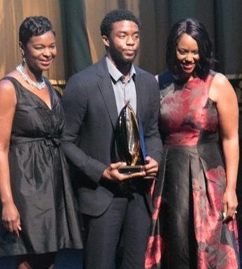 Chadwick Boseman receives a Trendsetter Award during the CBCF 20th annual Celebration of Leadership in the Fine Arts at Sidney Harman Hall in Northwest on Wed., September 14.