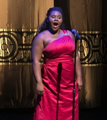 Lindsey Reynolds, CBCF Performing Arts Scholarship recipient performs during the CBCF 20th annual Celebration of Leadership in the Fine Arts at Sidney Harman Hall in Northwest on Wed., September 14.