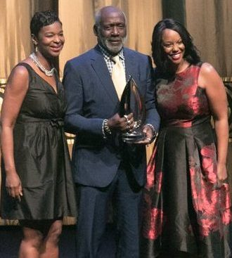 Richard Roundtree receives Lifetime Achievement award during the CBCF 20th annual Celebration of Leadership in the Fine Arts at Sidney Harman Hall in Northwest on Wed., September 14.