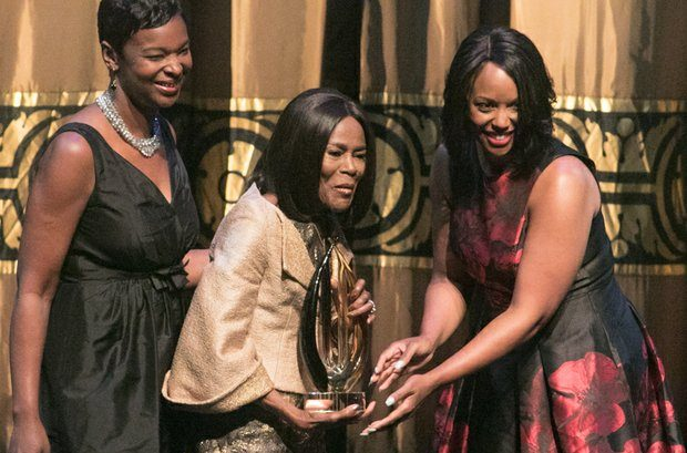 Cicely Tyson receives Lifetime Achievement award during the CBCF 20th annual Celebration of Leadership in the Fine Arts at Sidney Harman Hall in Northwest on Wed., September 14.