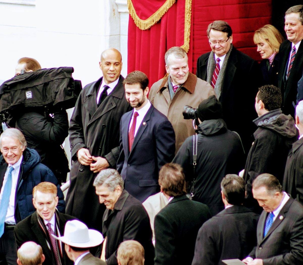Members of Congress arrive to take their seats at the inauguration ceremony for the 45th president of the United States. /Photo by Shevry Lassiter