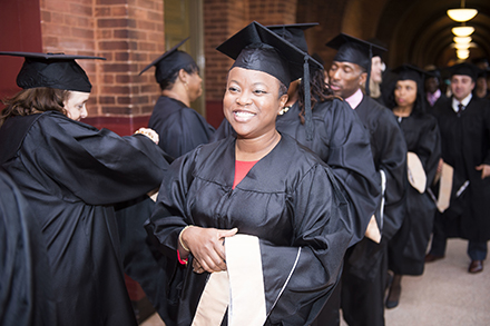 A former corps of DCPS principals graduate from EML Program at Georgetown University. (Courtesy of Georgetown.edu)