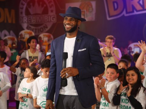 """LeBron James endorses Hillary Clinton for president. """"We need a president who understands our community and will build on the legacy of President Obama. So let's register to vote, show up to the polls, and vote for Hillary Clinton,"""" the NBA star writes. PHOTO: LeBron James Family Foundation"""