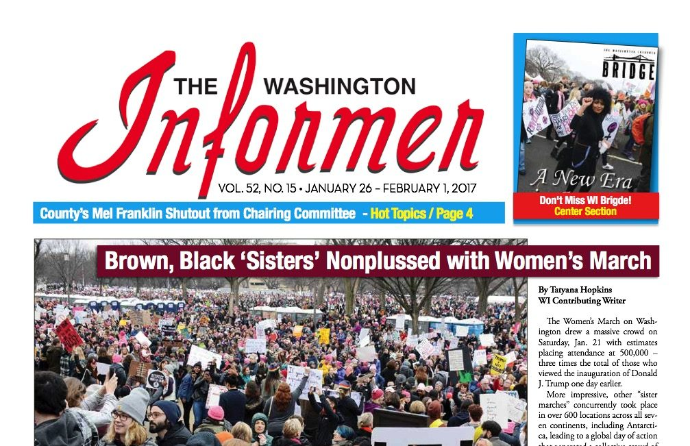 Photo of Washington Informer Issue, January 26, 2017