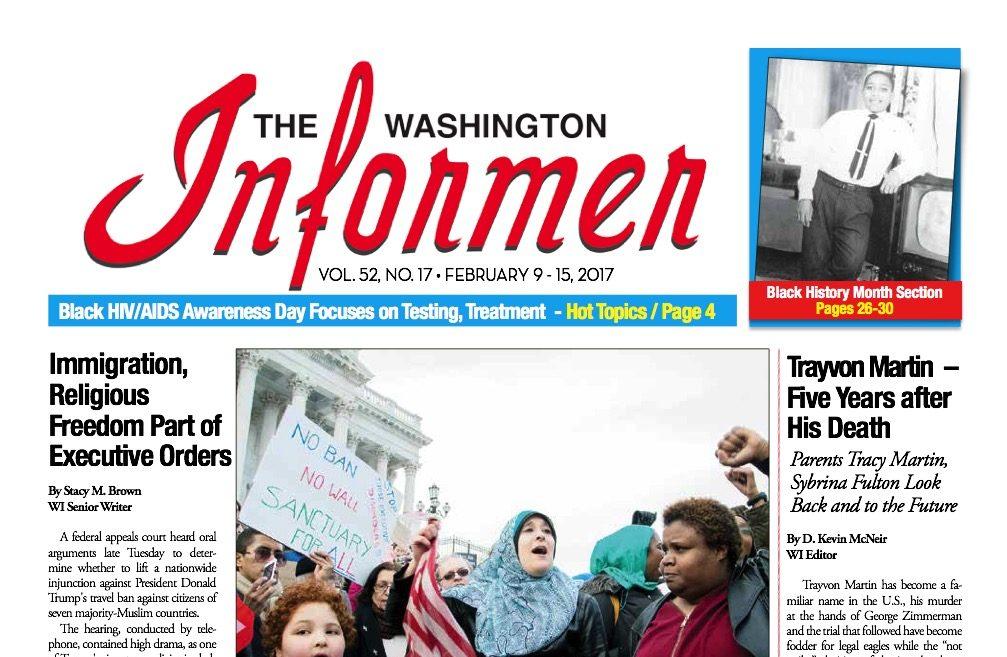 Photo of Washington Informer Issue, February 9, 2017