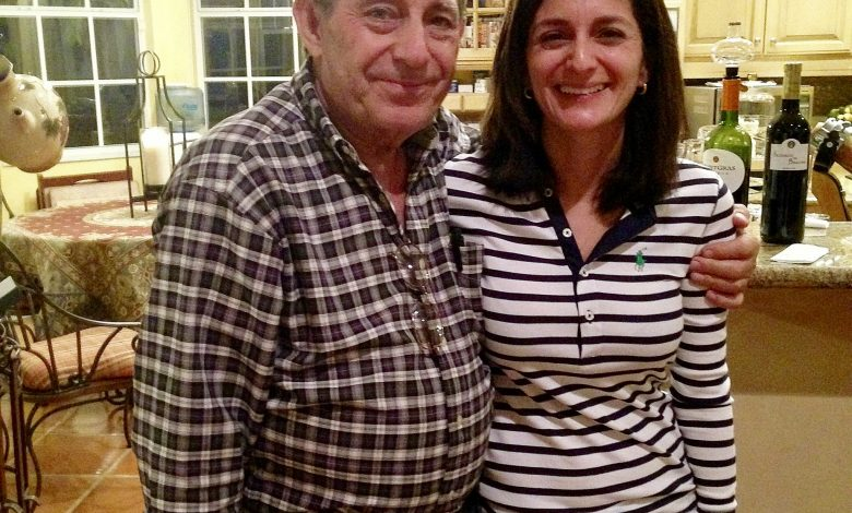 Regina DeMeo with her father, who lives in Miami (Courtesy photo)