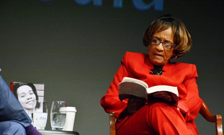 "Author Barbara Reynolds discusses her book ""My Life, My Love, My Legacy"", co-authored with the late Coretta Scott King, at the Annenberg Theater of the Newseum on Saturday, Feb. 4 in Northwest. (Roy Lewis/The Washington Informer)"