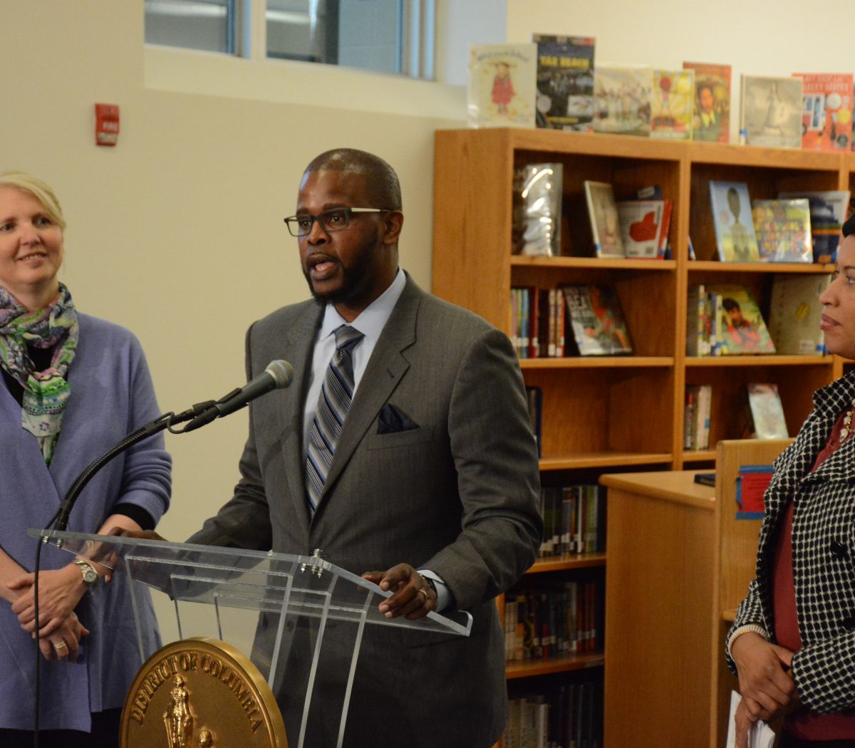 Mayor Muriel Bowser and Deputy Mayor of Education Jennifer Niles introduce Antwan Wilson as the new DCPS Chancellor at a press conference held at Alice Deal Middle School in Northwest on February 1, 2017. /Photo by Roy Lewis