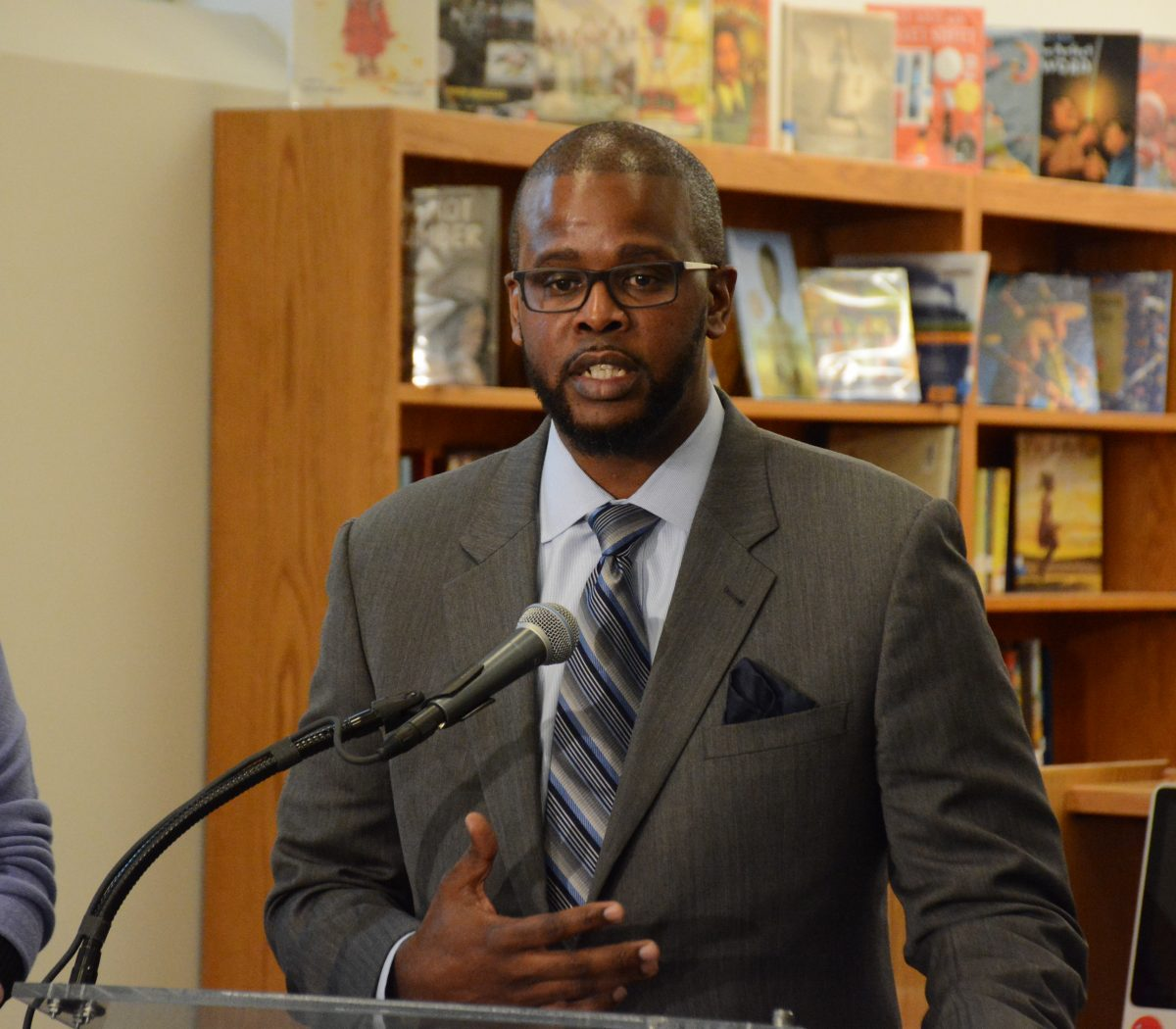 DCPS Chancellor Antwan Wilson speaks during a press conference at Alice Deal Middle School in Northwest on February 1, 2017. /Photo by Roy Lewis
