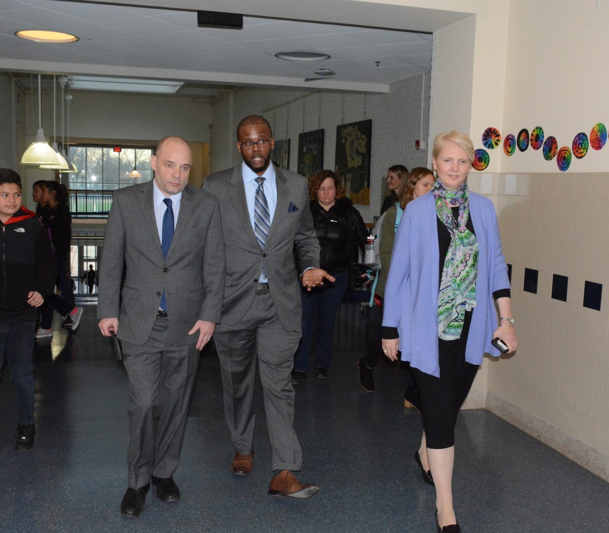 DCPS Chancellor Antwan Wilson arrives at a press conference at Alice Deal Middle School in Northwest on February 1, 2017. /Photo by Roy Lewis