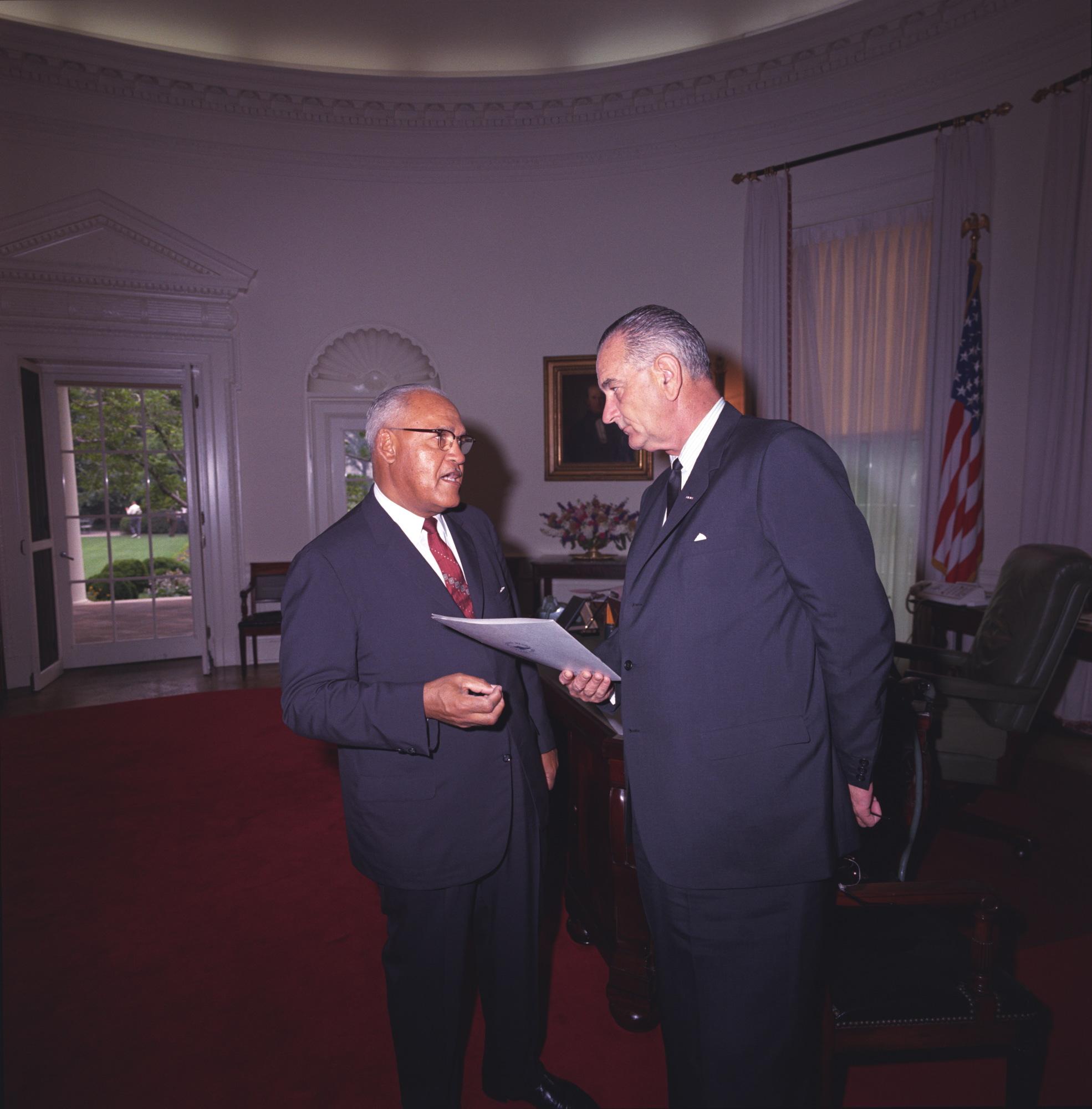 Frederick D. Patterson, Lyndon Johnson