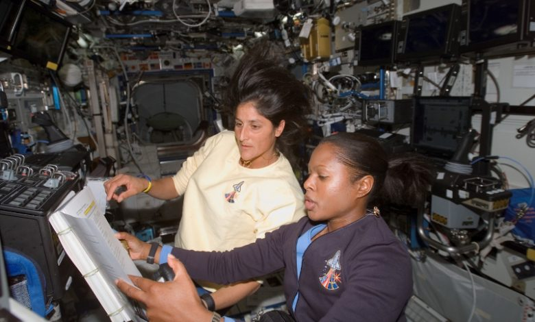 Astronaut Joan Higginbotham (right) and colleague (Courtesy photo)
