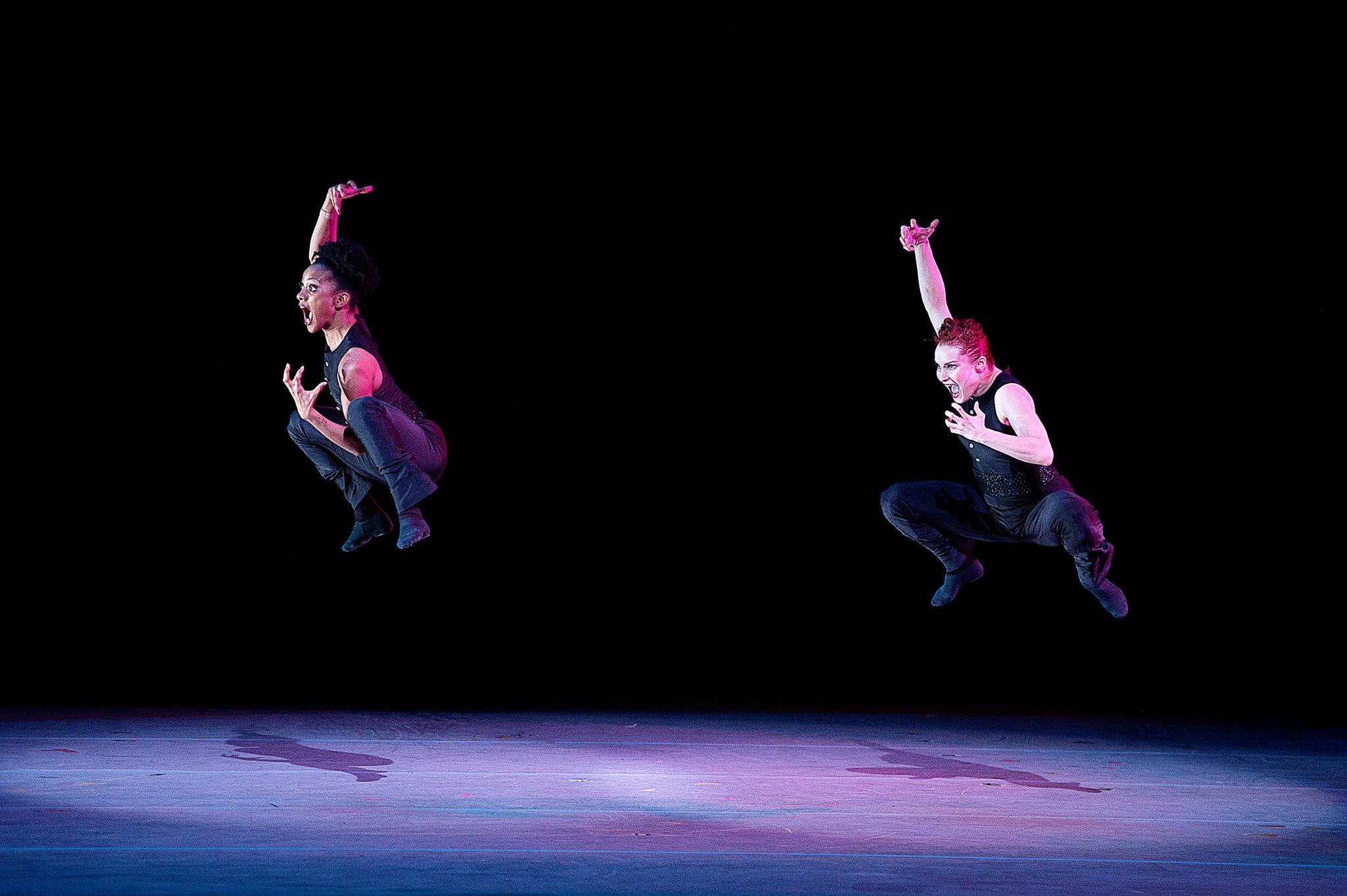 """Alvin Ailey Dance Theater's Jacquelin Harris and Megan Jakel in Robert Battle's """"Ella"""" (Courtesy of AADT/Christopher Duggan)"""