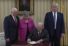 Photo of Sessions Sworn In as AG to Civil Activists' Dismay