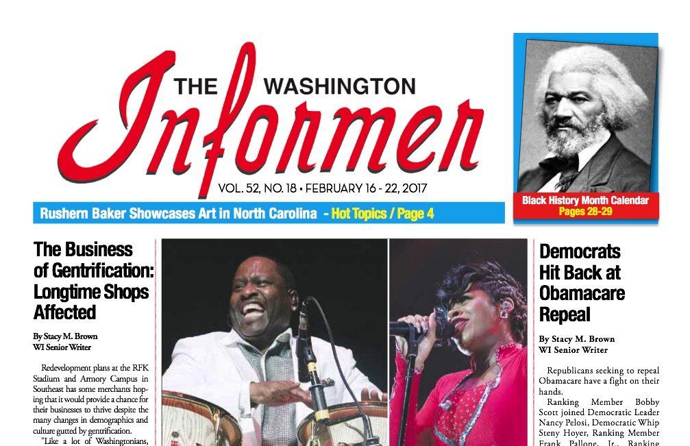 Photo of Washington Informer Issue, February 16, 2017