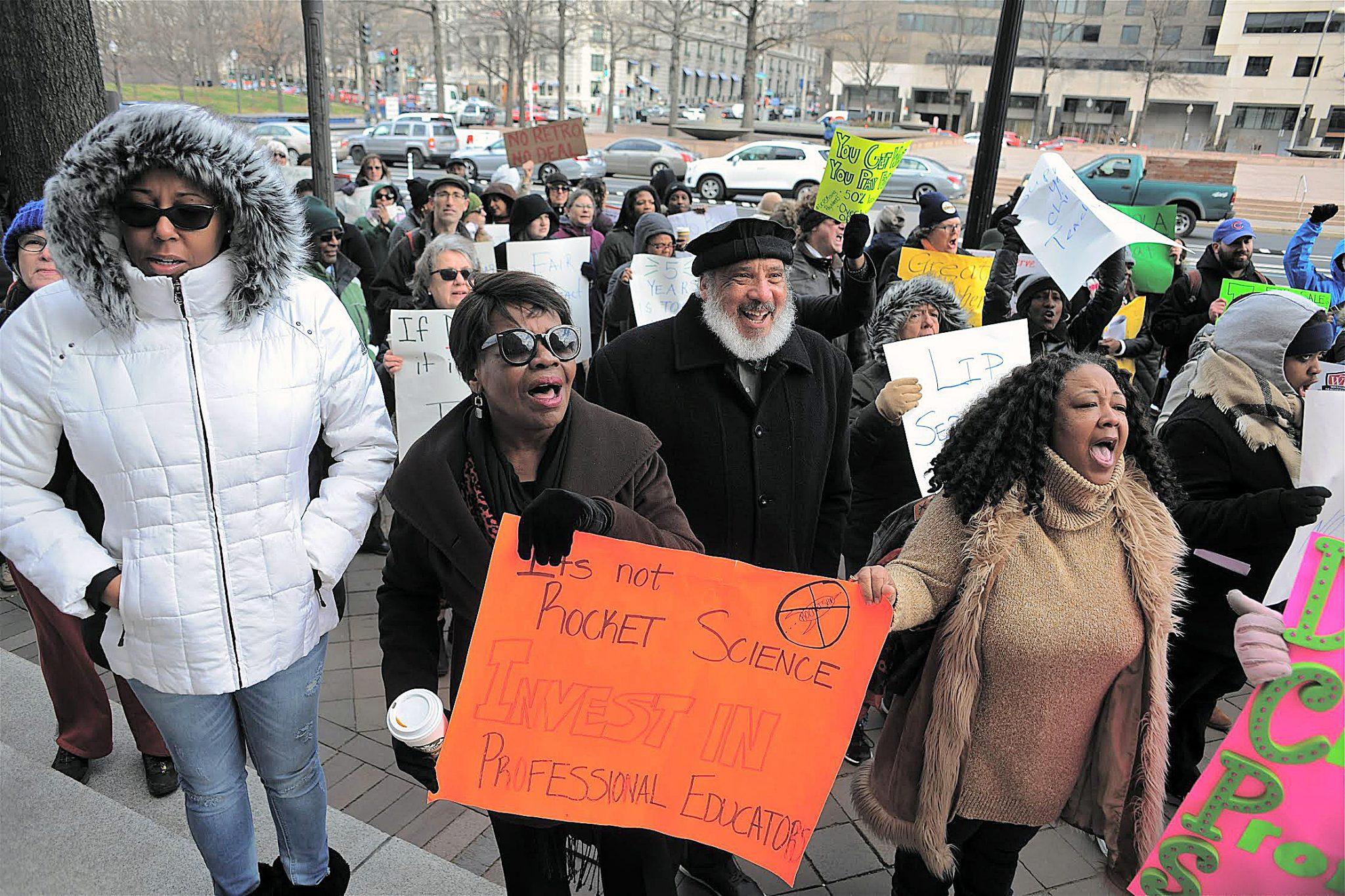 Photo of D.C. Teachers Protest for More Money