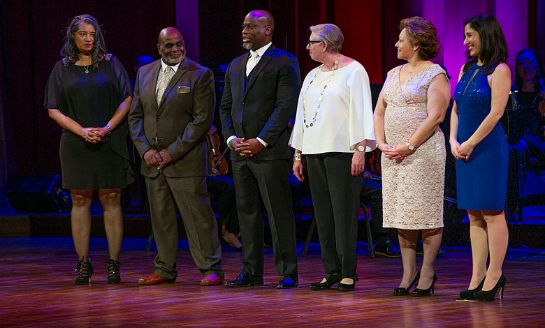 Dozens of teachers were awarded cash prizes worth $230,000 during the DCPS Standing Ovation Awards on March 13 at the John F. Kennedy Center for Performing Arts in northwest D.C. (Lateef Mangum)