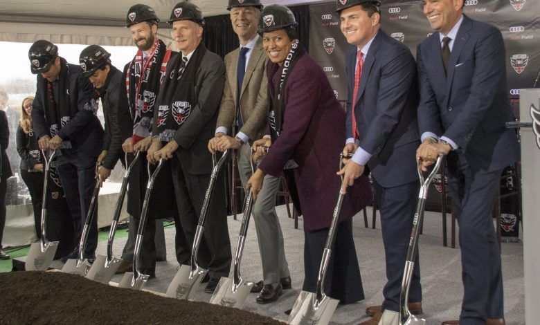 D.C. United have officially broken ground on Audi Field, a more than half-billion-dollar investment to construct a state-of-the-art soccer-specific stadium and adjoining mixed use development in the Southwest Waterfront District. (Tony Quinn)