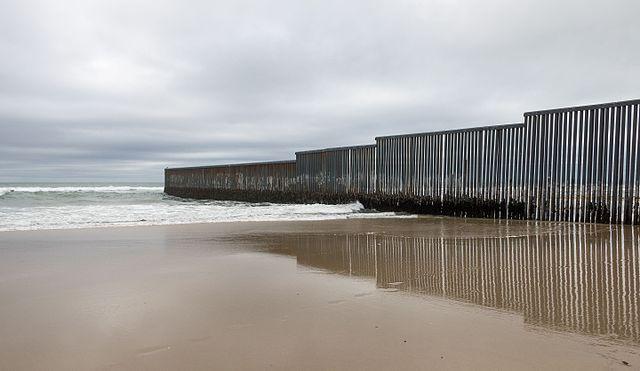 Mexico-U.S. border wall at Tijuana, Mexico (Courtesy of Tomas Castelazo via Wikimedia Commons)