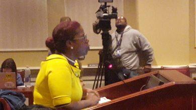 Photo of Delegate Angela Angel Testimony DOMESTIC VIOLENCE