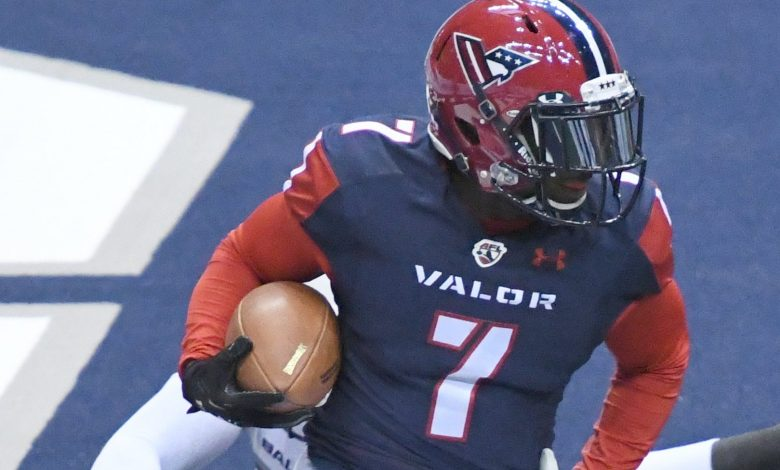 Washington Valor wide receiver Mike Washington