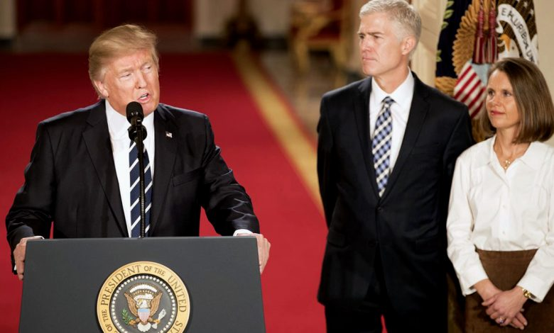 President Donald Trump with Supreme Court nominee Neil Gorsuch at the White House on Jan. 31 (Courtesy of the White House)
