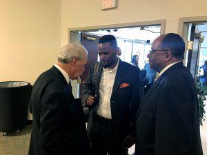 George Fraser, Bobby Manning and lawyer Majet Parker (Hamil Harris/The Washington Informer)