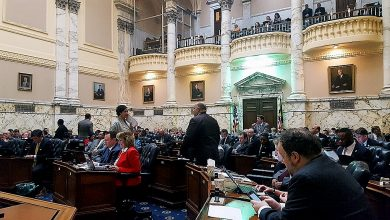 The Maryland House of Delegates holds a session in Annapolis on March 31. (William J. Ford/The Washington Informer)