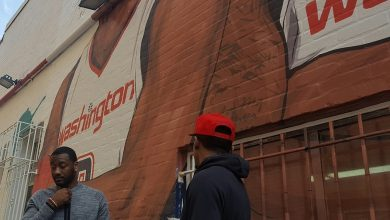 Photo of Wall, Beal the New Faces of Mural at Ben's Chili Bowl
