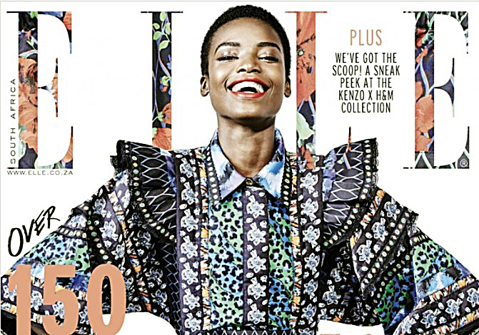 Maria Borges on the cover of Elle magazine (Courtesy of face2faceafrica.com)