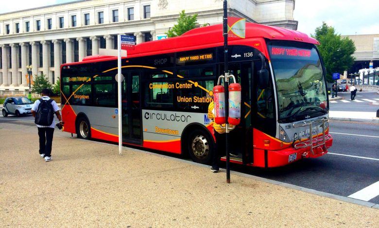 A D.C. Circulator bus is seen here. (Courtesy of Wikimedia Coomons)