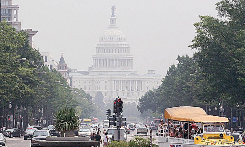 A day of smog in D.C. (Courtesy photo)