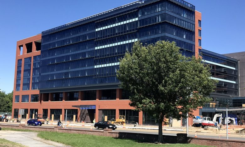 A hotel is currently under construction on Route 1 in College Park near the University of Maryland. (Shevry Lassiter/The Washington Informer)