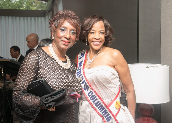 Lacy O'Neil 2016 inductee and Miss Senior District of Columbia Wendy Bridges a 2015 inductee at the 8th Annual Cardozo All-Met Hall of Fame Awards Dinner held on April 30, 2017 in Upper Marlboro. /Photo by Shevry Lassiter